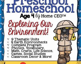 Preschool Homeschool Exploring Our Earth 9 Week Program