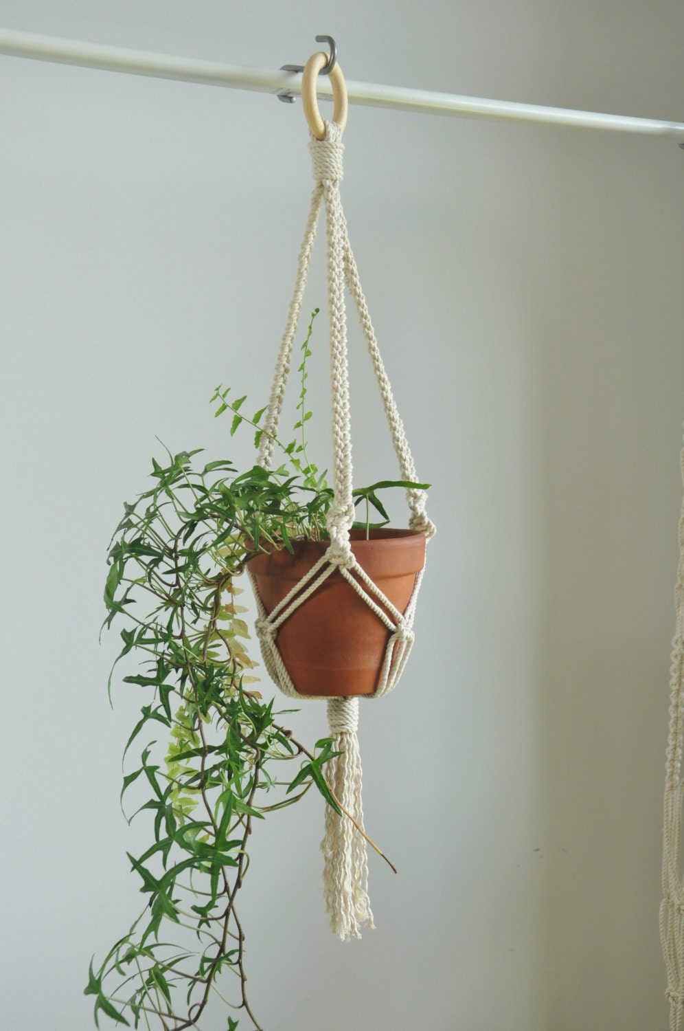 macrame plant hanger indoor garden plant pot holder hanging. Black Bedroom Furniture Sets. Home Design Ideas