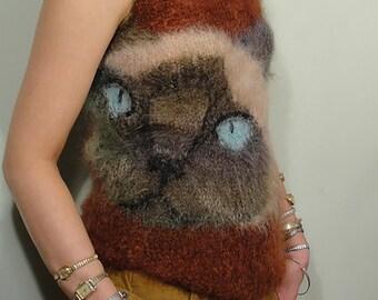 PDF Knitting Pattern, New Instant digital Download Kitty