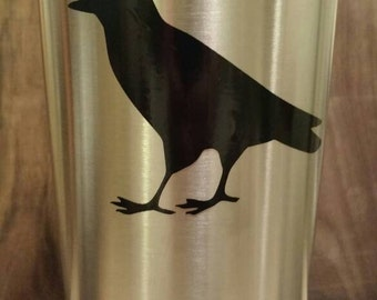 Raven Decal Etsy - Window decals for birds canada