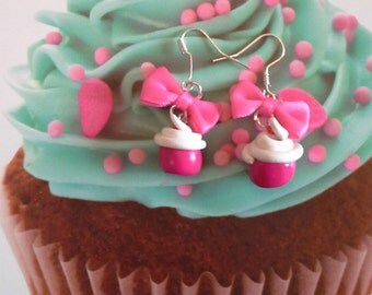 earrings cup cake