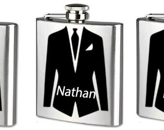 Flask - Groomsmen Gift - Groomsman Gift - Personalized Flask
