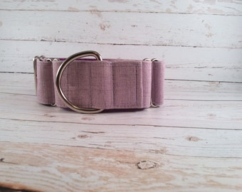 MADE TO ORDER- Purple Waverly Dog Collar, Choose width- Buckle or Martingale- add Embroidery and/or Leash