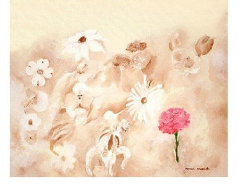 Pink Carnation, Limited Edition Print