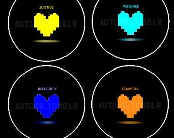 Undertale Soul Heart Buttons