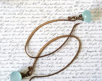 Bronze Chalcedony Earrings