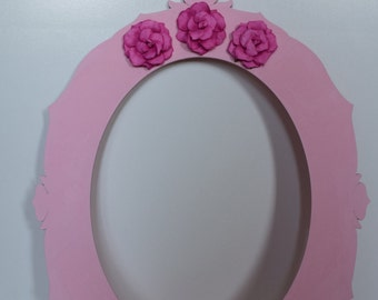 Pink Picture Frame with Flowers