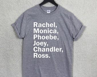 FRIENDS NAME t shirt top tv show series retro 90's rachel family monica funny