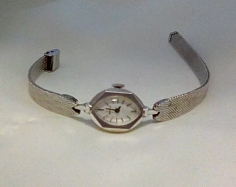Benrus Silvertone Ladies Watch Vintage 1950's 1960s
