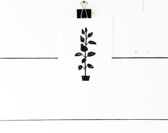 Block Print Art, Botanical Print, Botanical Art, Nature Prints, Black and White Art, Plant Art, Block Print, Lino Print, Linocut Print