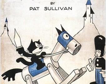 Otto Mesmer's Felix The Cat Trips Thru Toyland Movie Poster Cartoon 1925 24x36