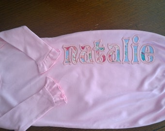 Applique Baby Name Gown