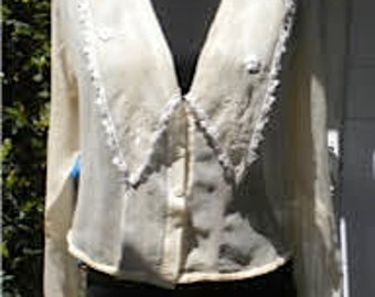 Cream Edwardian Blouse