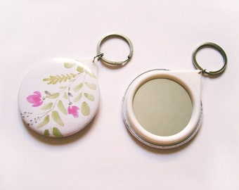 Compact Mirror, Pocket Mirror, Keychain Mirror, Mirror, Purse Mirror, best friend keychain, best friend gift, best friend birthday gift