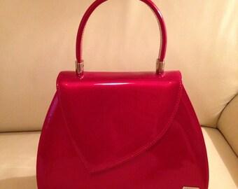 Vintage Loriblu Red Patent Leather Handbag