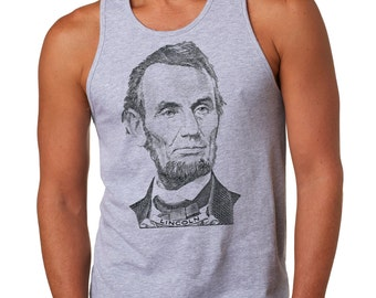 Abraham Lincoln Tank Top President USA Patriotic Mens Tank Top
