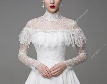 Coco Wedding Dress, Unique Wedding Gown, Simple Wedding dress, Long Sleeve bridal gown, Bohemian Wedding Dress