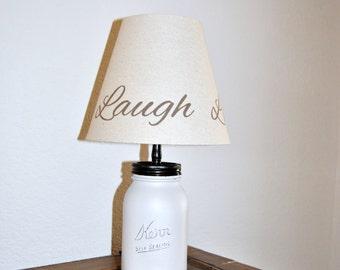 Quart Size Mason Jar Lamp