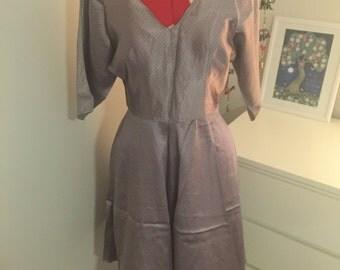 Silk dolmain sleeve vintage dress