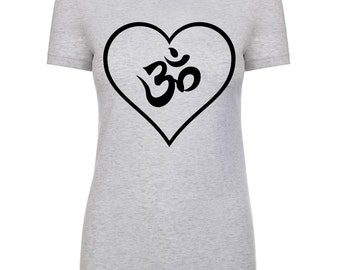 Om and Heart  T-Shirt