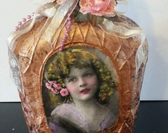 Shabby Chic Victorian Bottle