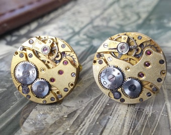 AUDAX Vintage Watch Movement Cufflinks
