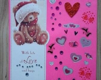 Hearts Xmas Card
