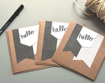 Set of hello cards - SET OF 3