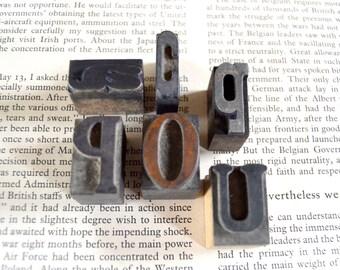 Vintage Letterpress Wooden Printers Type Blocks - (6) Letter Blocks - Lot 4