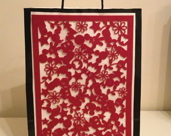 Red n white Fancy paper bag