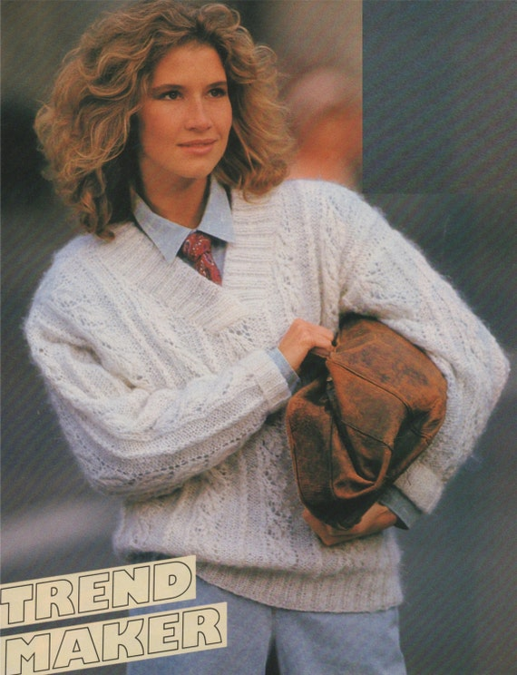 womens sweater pdf knitting pattern ladies 33 34 inch bust 84 88 cm chest jumper dk. Black Bedroom Furniture Sets. Home Design Ideas