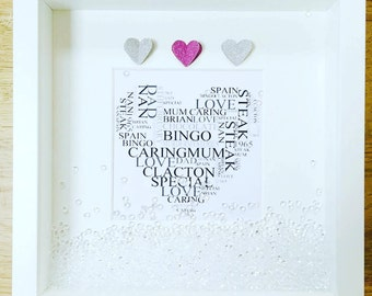 Personalised Word Collage Frame