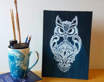 Ethnic OWL canvas