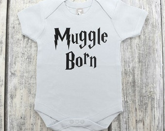Funny Harry Potter Inspired Baby Onesie,Muggle Born Onesie, Baby Shower Gift ,Harry Potter Baby Gift ,Harry Potter Baby Onesie