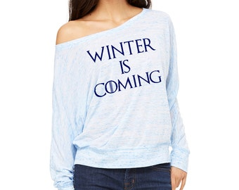 Winter is Coming - Game of Thrones - Over the shoulder long sleeve