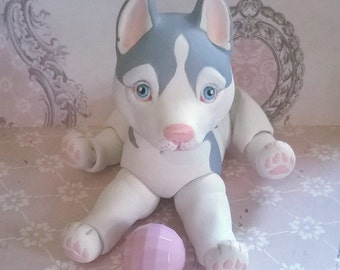 Dog bjd. Husky art doll OOAK.