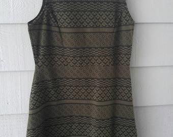 Army Green Tribal Dress