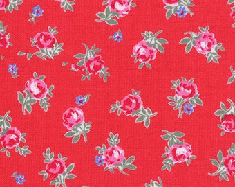 SALE!!!! Flower Sugar fabric, Lecien Fabric, Floral Fabric, Half of a Metre Fabric, Quilting Fabric