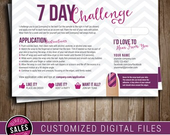 Jamberry sample cards etsy nz for Jamberry sample card template