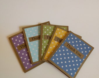 Thank You Card Set, Set of Thank You Cards, Kraft Paper Thank You Cards