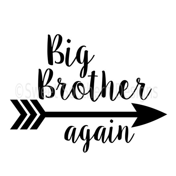 Download Big brother again with arrow SVG instant download design for