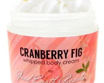 Body Cream natural Cranberry Fig by Good Earth Beauty