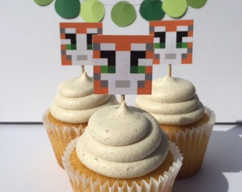 Stampy Cupcake Toppers, Stampy Cat, Mine craft Birthday Party, Mine game Party Decor, Stampy Birthday Party, Stampy Longnose