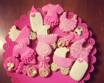 Baby Shower Sugar Cookies - 12 count