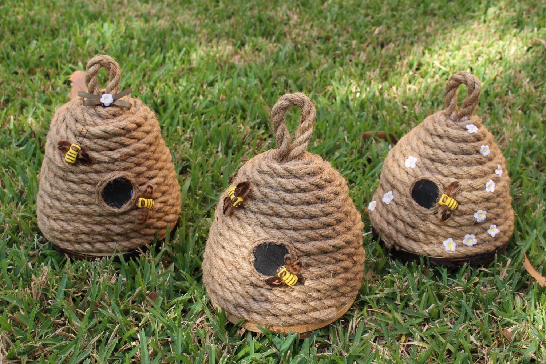 Handmade bee skeps home garden home decor by for Handmade home decorative item