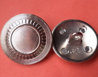 21 mm (5489) metal button buttons 8 metal buttons silver