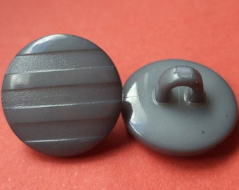 10 small buttons grey 11mm (4880) button
