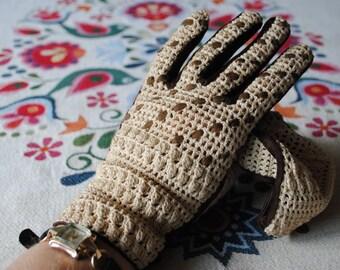 Fantasy crocheted gloves 1960