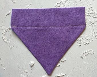Purple Over the Collar Bandana