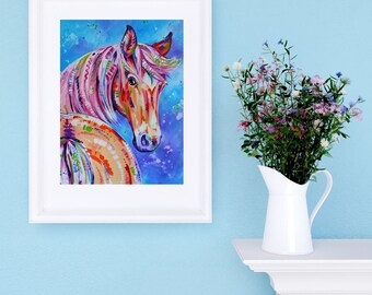 "Horse Art Print - ""Cinnamon"""